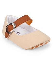 Ivee Soft Sole Cotton & Polyester Shoes - Fawn