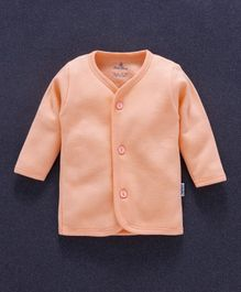 Child World Full Sleeves Fleece Vest - Light Orange