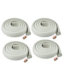 Kuhu Creations Edge Cushion Protector Grey - 4 Pieces