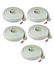 Kuhu Creations Edge Cushion Protector Grey - 5 Pieces