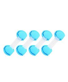 Kuhu Creations Safety Lock For Drawer Fridge Cabinet Pack Of 4 - Blue