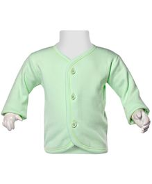Child World Full Sleeves Fleece Vest - Light Green