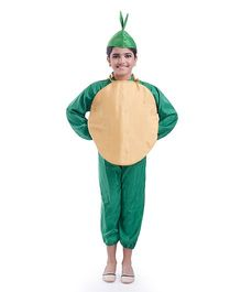 Fancydresswale Potato Fancy Dress - Brown Green