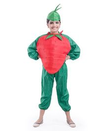 Fancydresswale Strawberry Fancy Dress - Red Green