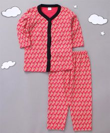 Playbeez Cute Sheep Print Sleepwear - Pink