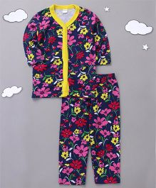 Playbeez Forest Flowers Print Sleepwear - Multi Color