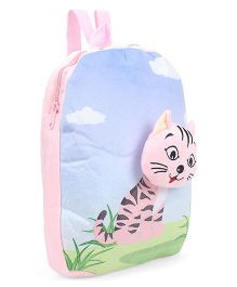 Dimpy Stuff Kitty Motif Soft Toy Backpack Pink - 14 inch