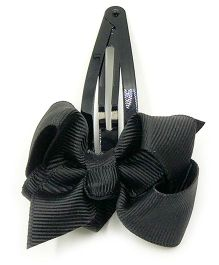Magic Needles Tic Tac Hair Clips With Bow - Black