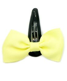 Magic Needles Tic Tac Hair Clips With Bow - Yellow