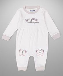 Wonderchild Full Sleeves Romper - White