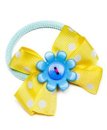 Ribbon Candy Cute Hair Tie - Yellow & Blue