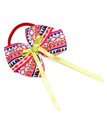 Ribbon Candy Aztec Print Hair Tie - Red