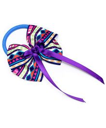Ribbon Candy Aztec Print Hair Tie - Purple