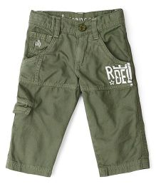 UFO Cargo Style Pant With Pockets - Olive
