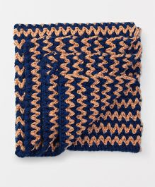 Rich Handknits Blanket - Navy