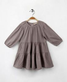 Cubmarks Long Sleeves Cotton Dress - Grey