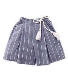 Cubmarks Shorts With Stripes And A Hanging Tie Up - Blue