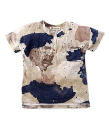 Cubmarks Military Print Torn Casual Tee - Multicolor