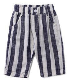 Cubmarks Striped Shorts - White & Blue