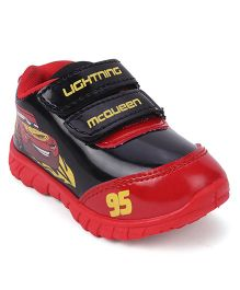 Disney Pixar Cars Casual Shoes Lightening Mc Queen Print - Red Black