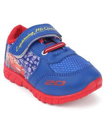 Disney Pixar Cars Casual Shoes Lightening Mc Queen Print - Royal Blue & Red