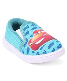 Disney Pixar Cars Barefoot Slip-On Casual Shoes Mc Queen Print - Sea Green
