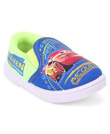 Disney Pixar Cars Barefoot Slip-On Casual Shoes Mc Queen Print - Blue Green