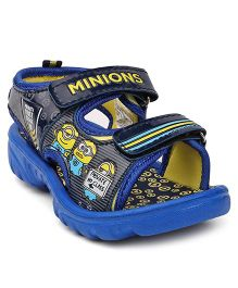 Minions Sandals With Velcro Closure Minions Print - Royal Blue