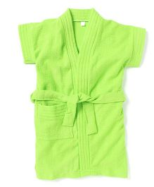 Pebbles Half Sleeves Bathrobe - Green