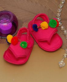 D'chica I Dress Like Mommy Crib Sandals For Baby Girls - Fuschia