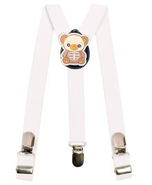 Miss Diva Cute Teddy Patch Suspender - White