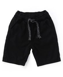Bees And Butterflies Elasticated Belt Shorts With String - Black