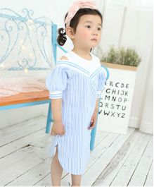 Pre Order - Awabox Striped Cool Dress - Blue
