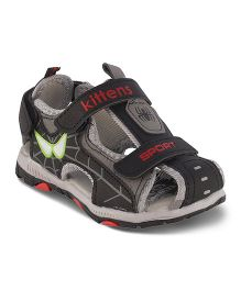 Kittens Sandals With Velcro Closure - Black