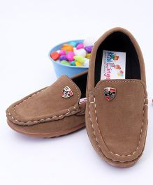 Kidlingss Suede Leather Loafers - Brown