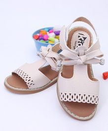 Kidlingss Party Wear Sandals - Beige