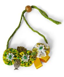 Soulfulsaai Floral Necklace - Yellow Green