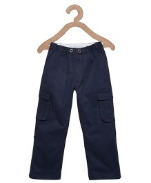 Litl Hopkins Cargo Pants With Side Pockets - Navy