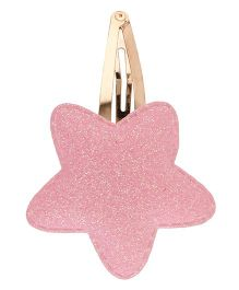 Baby Angel Star Shaped Hair Clip - Pink