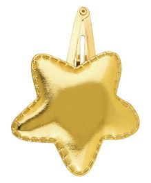 Baby Angel Star Shaped Hair Clip - Gold