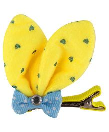 Baby Angel Rabbit Ears Bow Clip - Yellow