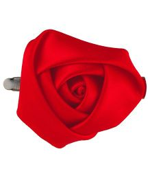 Baby Angel Satin Rose Hair Clip - Red