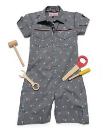Asi Tattva Casual Jumpsuit - Grey