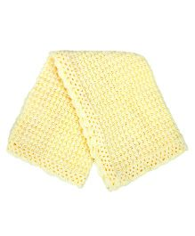 Grandma's Woolen Knitted Blanket - Yellow