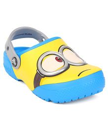 Crocs Glow In The Dark Clogs Minions Print - Sky Blue Yellow