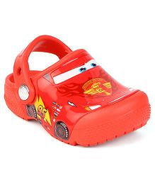 Crocs Clogs With Back Strap Disney Pixar Cars Print - Red