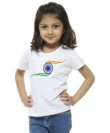 M'Andy Independence Day Ashok Chkara Print Tee - White