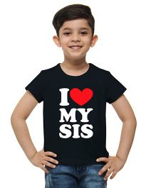 M'Andy I Love My Sis Print Tee - Black