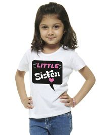 M'Andy Little Sister Print Tee - White