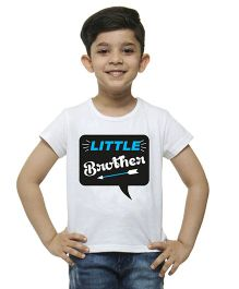 M'Andy Little Brother Print Tee - White